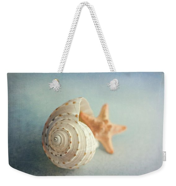 Conch Shell And Starfish Weekender Tote Bag