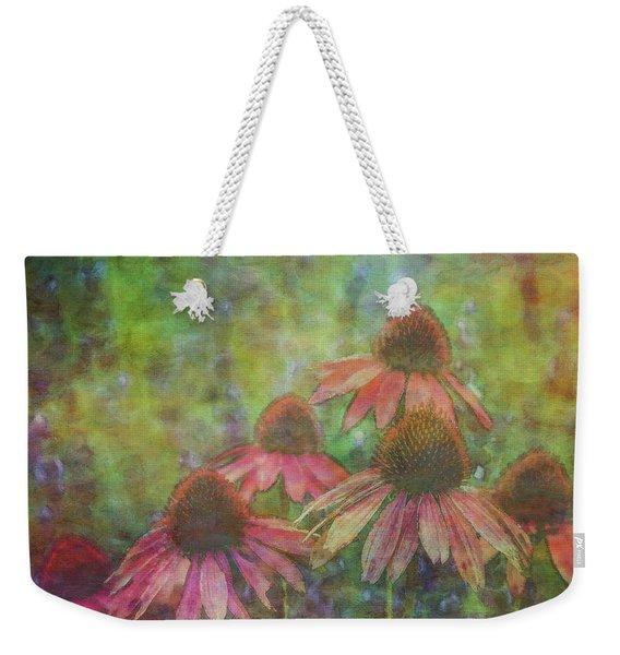 Coneflowers Among The Lavender 1667 Idp_2 Weekender Tote Bag