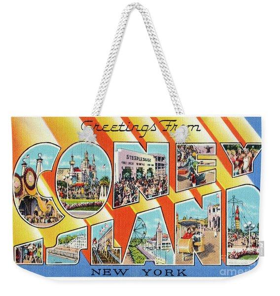 Coney Island Greetings - Version 1 Weekender Tote Bag