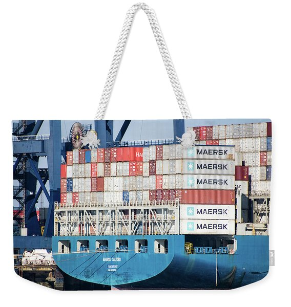 Container Ship Weekender Tote Bag