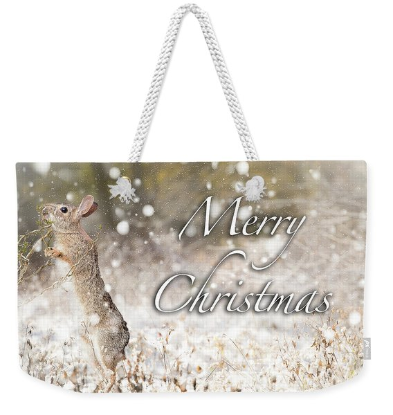 Conttontail Christmas Weekender Tote Bag