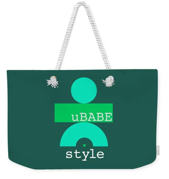 Cool Green Style Weekender Tote Bag