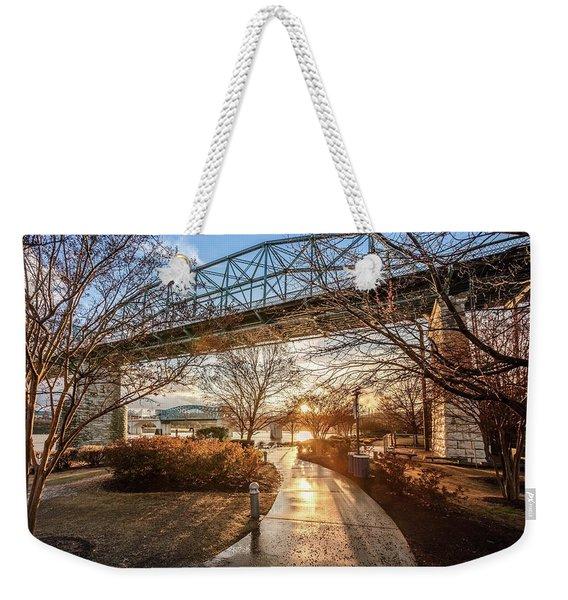 Coolidge Park Path At Sunset Weekender Tote Bag