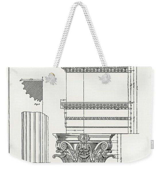 Corinthian Architecture Weekender Tote Bag