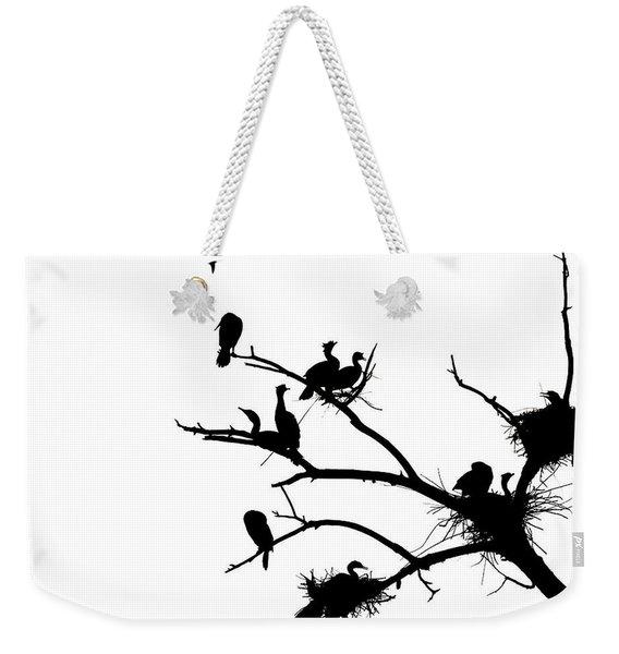 Cormorant's In Silhouette Weekender Tote Bag