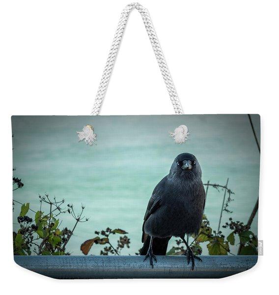 Cornish Crow Weekender Tote Bag