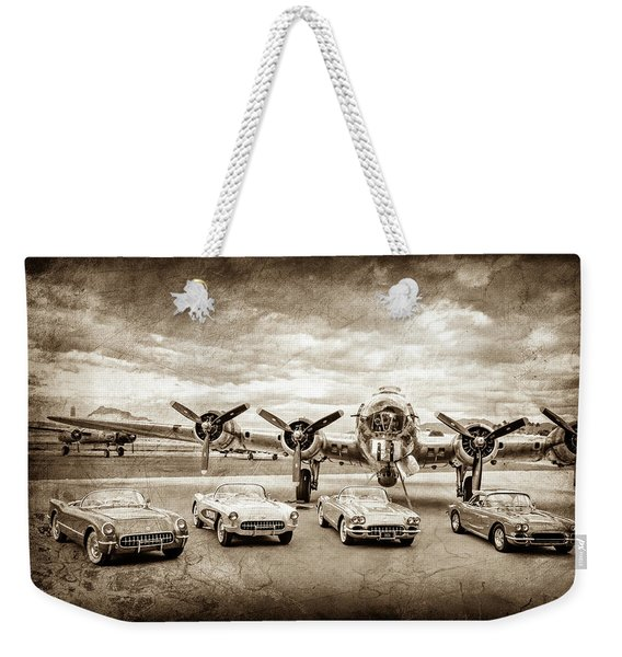 Corvettes And B17 Bomber -0027s Weekender Tote Bag