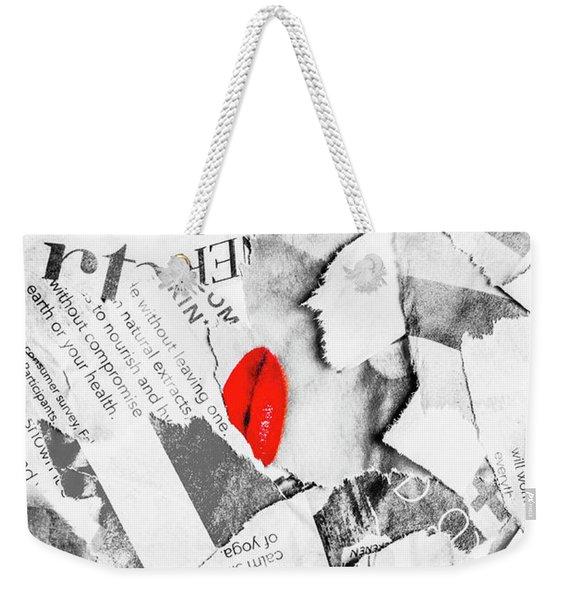 Cosmetic Collage Weekender Tote Bag