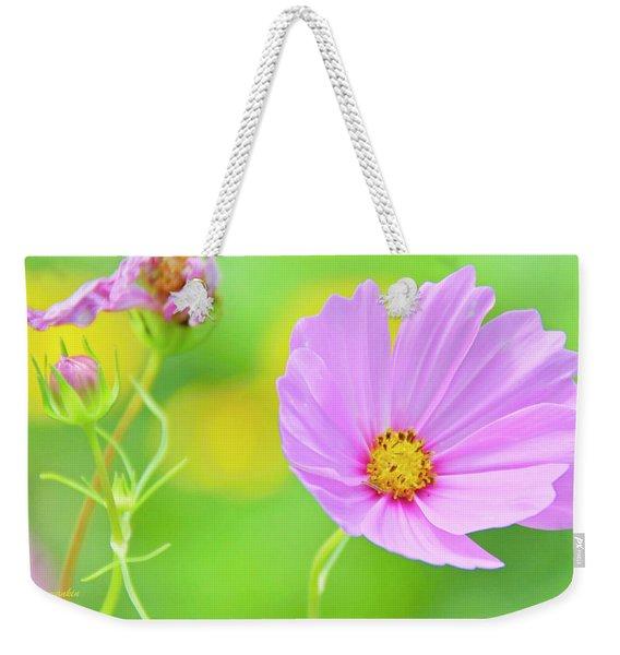 Cosmos Flower In Full Bloom, Bud Weekender Tote Bag