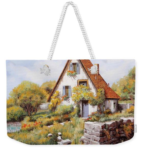 Cottage Weekender Tote Bag