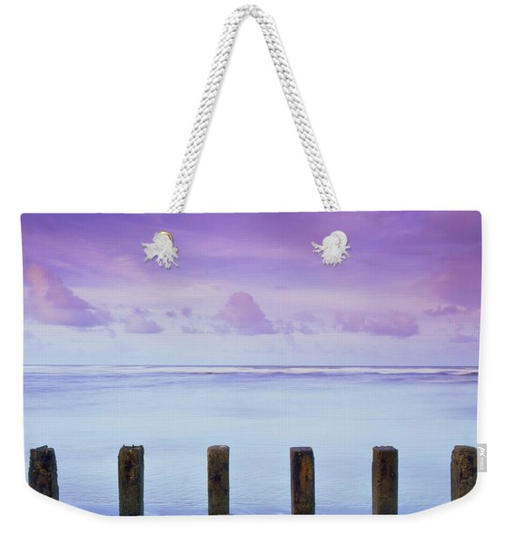 Cotton Candy Skies Over The Sea Weekender Tote Bag