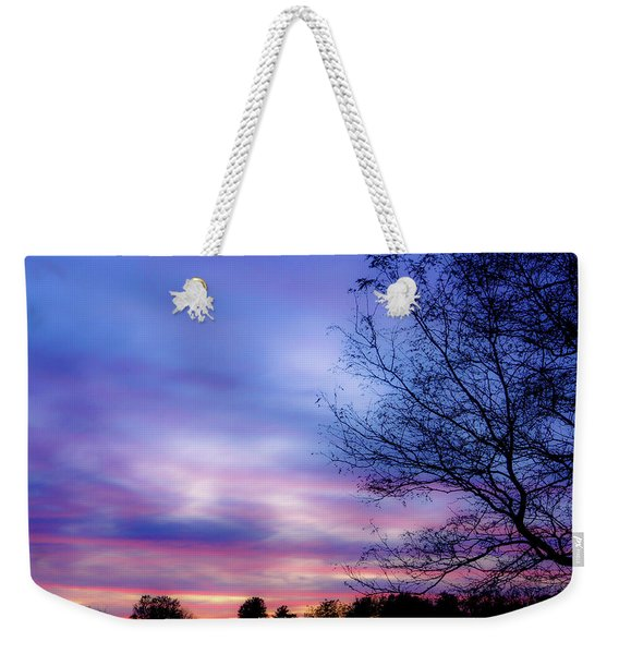 Cotton Candy Sunset In October Weekender Tote Bag