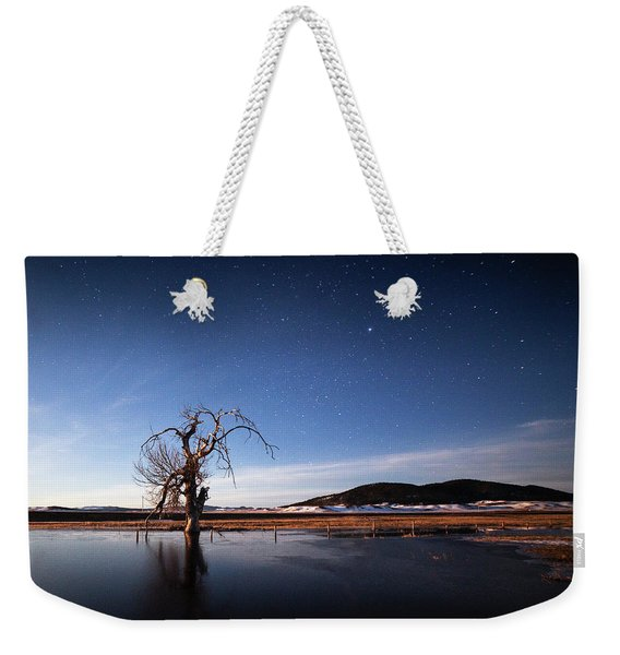 Cottonwood Under Moonlight Weekender Tote Bag