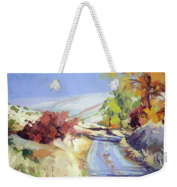Country Blue Sky Weekender Tote Bag