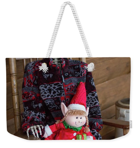 Country Christmas Greeters Weekender Tote Bag