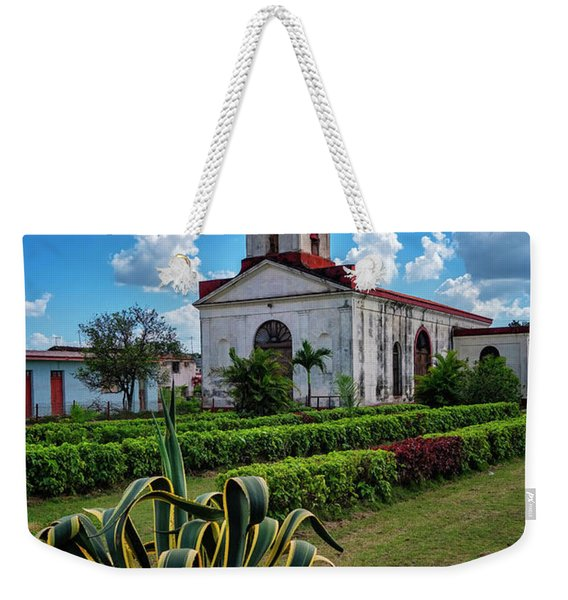 Weekender Tote Bag featuring the photograph Country Church by Tom Singleton