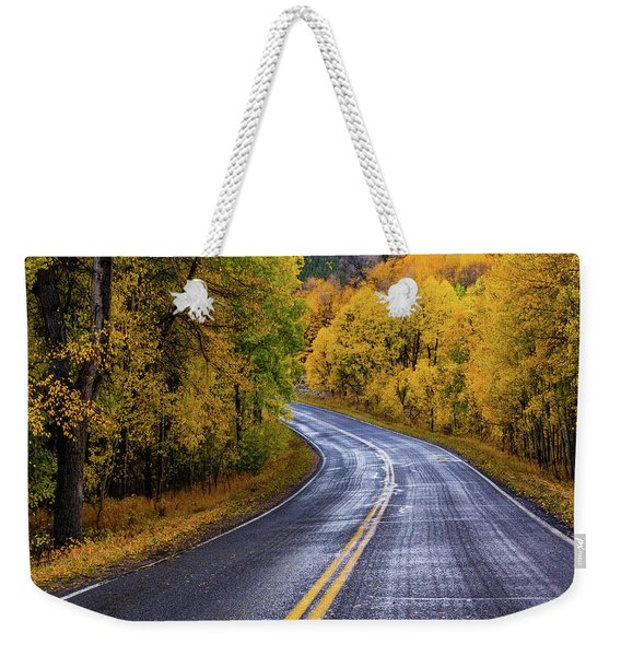 Weekender Tote Bag featuring the photograph Country Travels by John De Bord