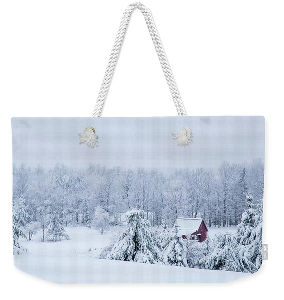 County Winter Scene  Weekender Tote Bag