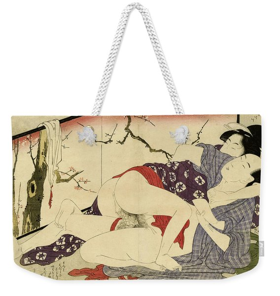 Couple Making Love Near A Room Divider, 1799 Weekender Tote Bag