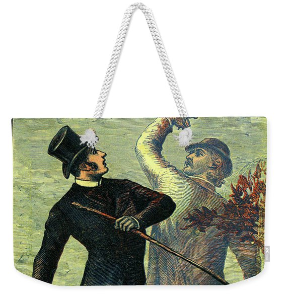 Victorian Yellowback Cover For Weird Stories Weekender Tote Bag
