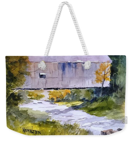 Covered Bridge Weekender Tote Bag