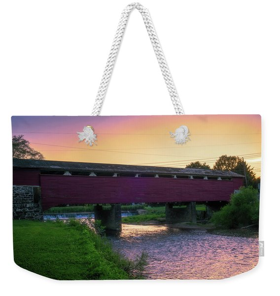 Covered Bridge Sunset Weekender Tote Bag