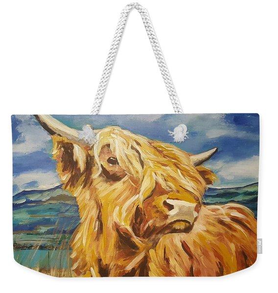 Cow In Field Weekender Tote Bag