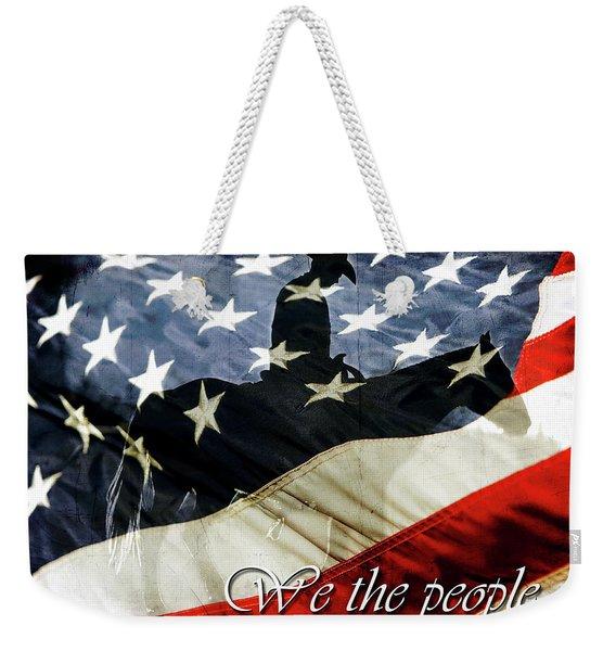 Cowboy Patriot Weekender Tote Bag