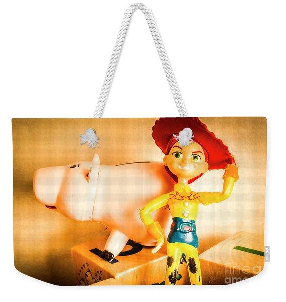 Cowgirl Figurine Weekender Tote Bag
