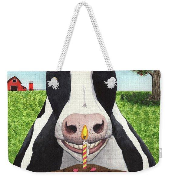 Cow's Pie Weekender Tote Bag