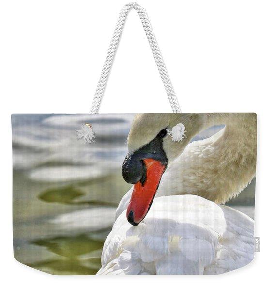 Coy Swan 2 Weekender Tote Bag