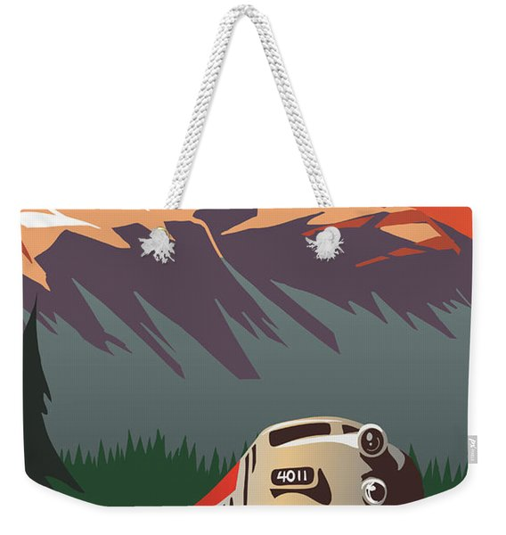 Cp Travel By Train Weekender Tote Bag