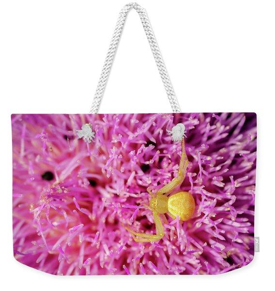 Crab Spider Weekender Tote Bag