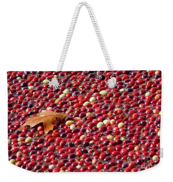 Cranberry Season Weekender Tote Bag