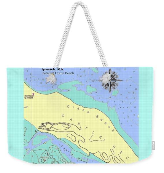 Crane Beach Weekender Tote Bag
