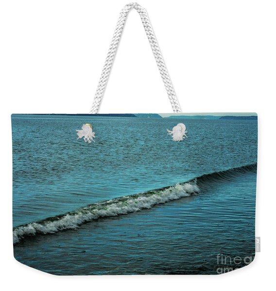 Crashing Wave Weekender Tote Bag