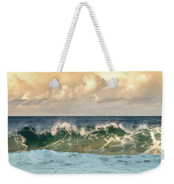 Crashing Waves And Cloudy Sky Weekender Tote Bag