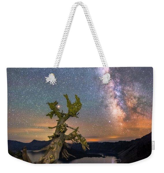 Crater Lake Twisty Tree Weekender Tote Bag