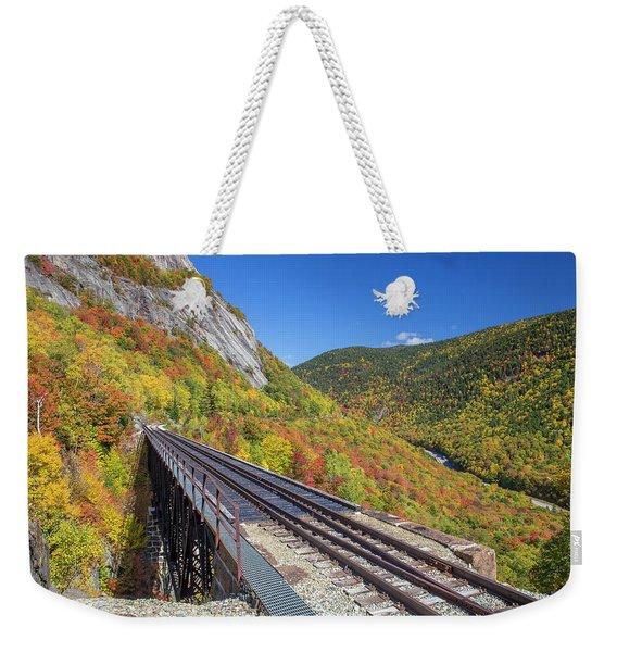 Crawford Notch Autumn Trestle Weekender Tote Bag