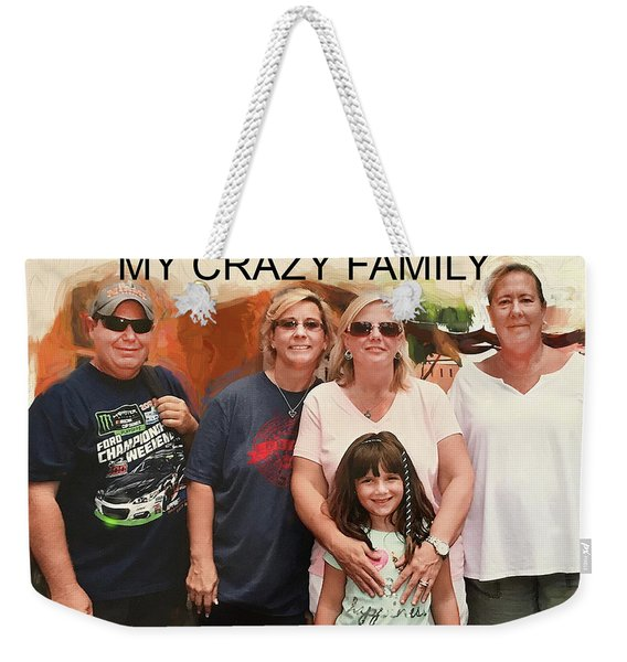 Crazy Family Weekender Tote Bag