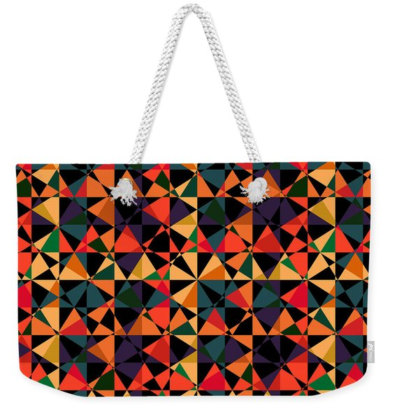 Crazy Psychedelic Art In Chaotic Visual Shapes - Efg214 Weekender Tote Bag