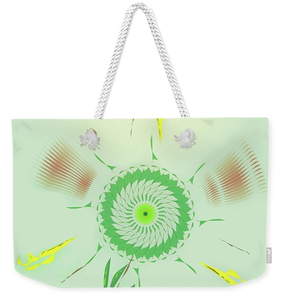 Crazy Spinning Flower Weekender Tote Bag