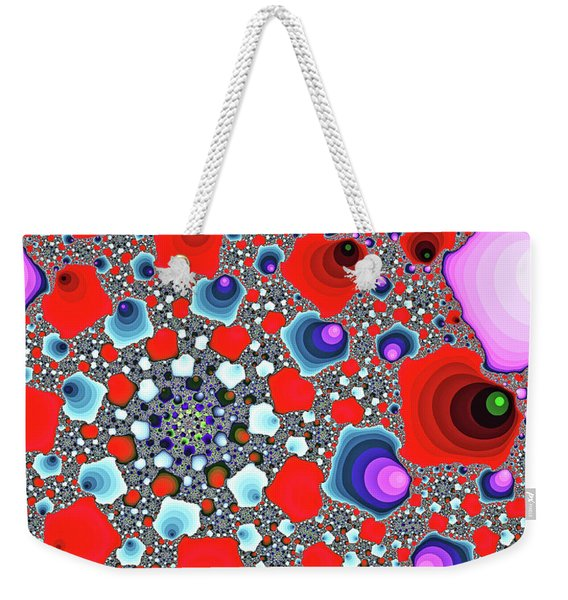 Weekender Tote Bag featuring the digital art Creative Spiral Abstract Art by Don Northup
