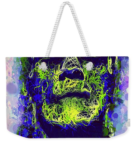 Weekender Tote Bag featuring the mixed media Frankenstein Watercolor by Al Matra