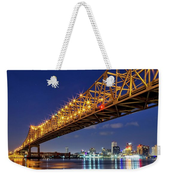 The Crescent City Bridge, New Orleans  Weekender Tote Bag