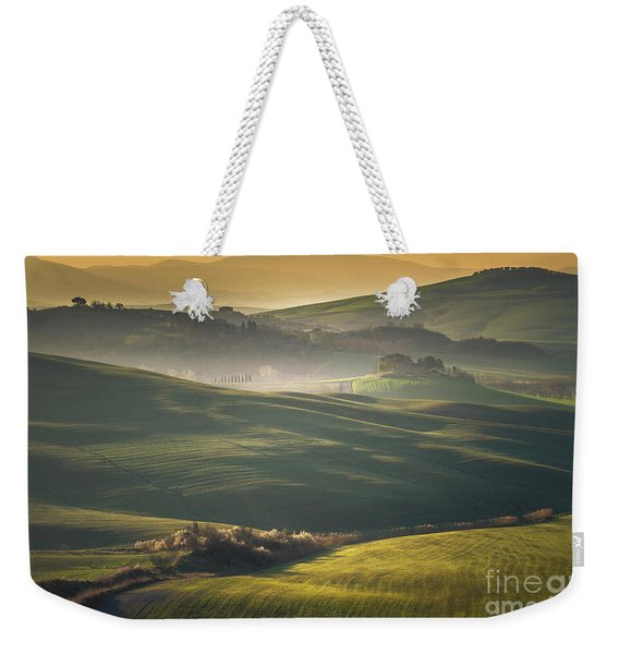 Crete Senesi Landscape In Tuscany Weekender Tote Bag