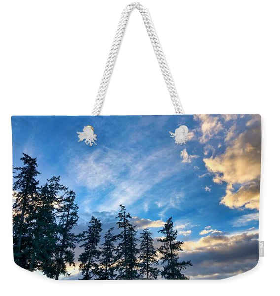 Crisp Skies Weekender Tote Bag