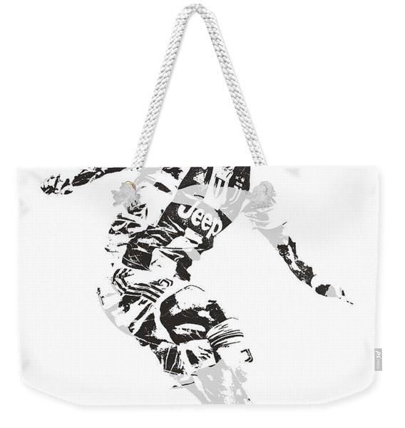 Cristiano Ronaldo Juventus Pixel Art 1 Weekender Tote Bag