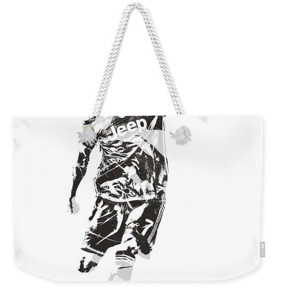 Cristiano Ronaldo Juventus Pixel Art 2 Weekender Tote Bag
