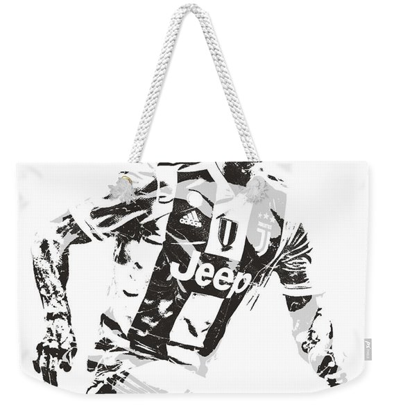 Cristiano Ronaldo Juventus Pixel Art 3 Weekender Tote Bag